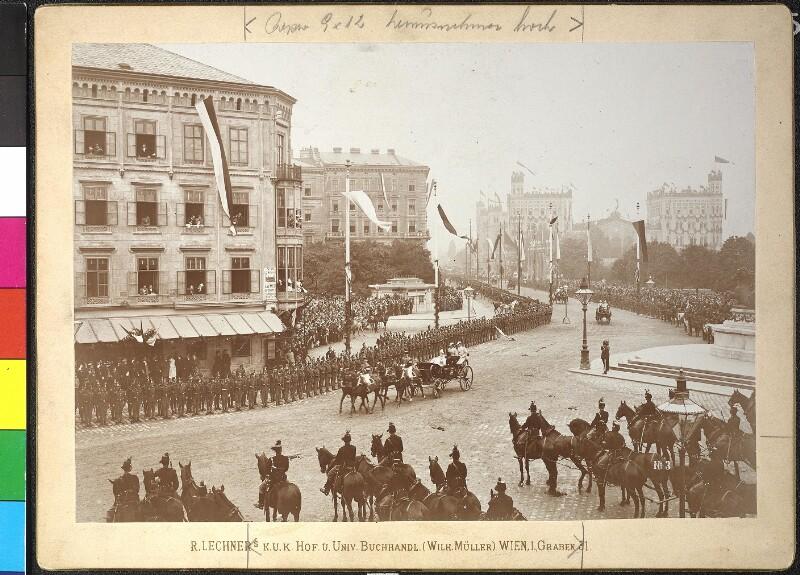 Ankunft des russischen Kaiserpaares Nikolaus II. und Alexandra in Wien