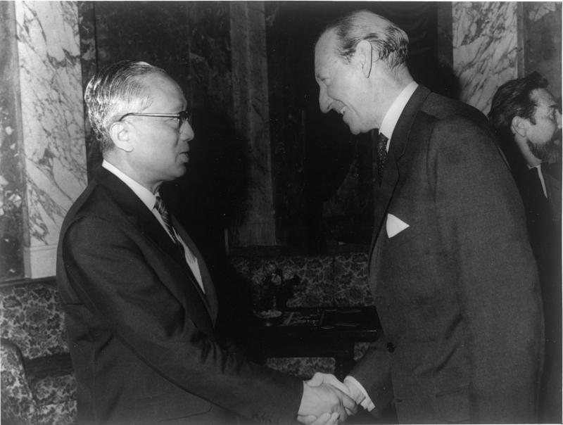 Staatsbesuch von UNO-Generalsekretär U Thant in Wien
