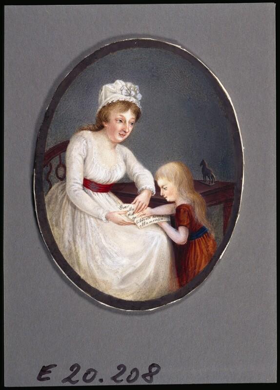 Bildnis eines Kindes mit ihrer Mutter