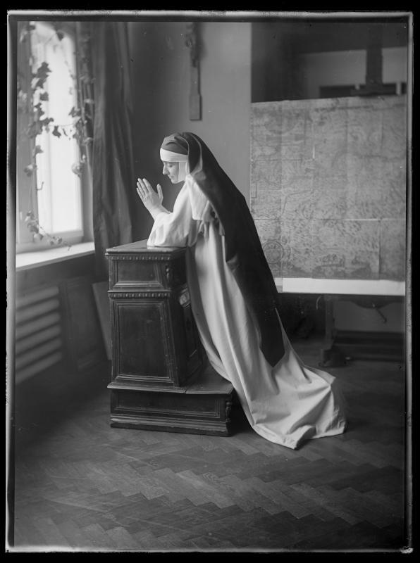 Bildnis Maria Carmi-Vollmöller (1880-1957) als Nonne