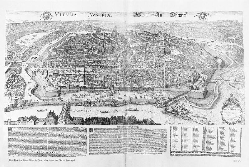Vogelschauplan der Stadt Wien 1609
