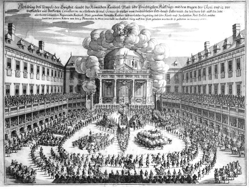 Rossballett im Burghof zu Wien