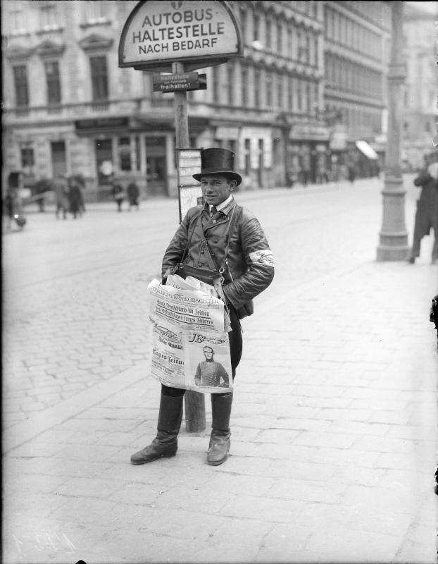 Zeitungsverkäufer in Wien