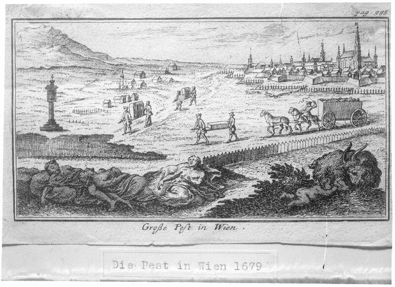 Bestattung von Pestleichen vor Wien 1679