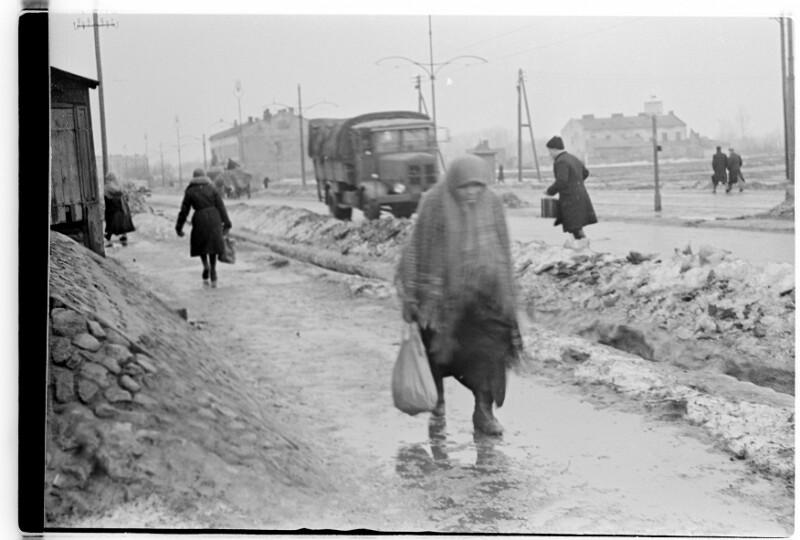 Straßenszene im Winter