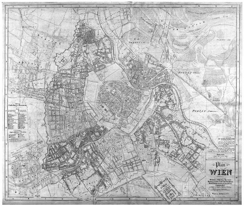 Plan von Wien, 1865