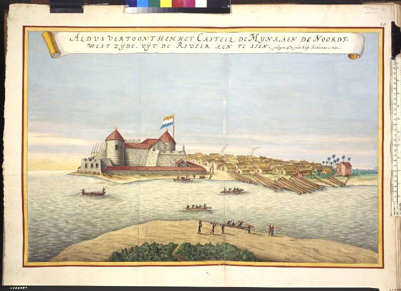 Blick vom Fluss auf Elmina