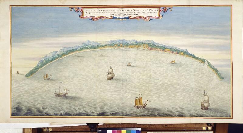 Ansicht der Festung Samboppe in der Stadt Makassar