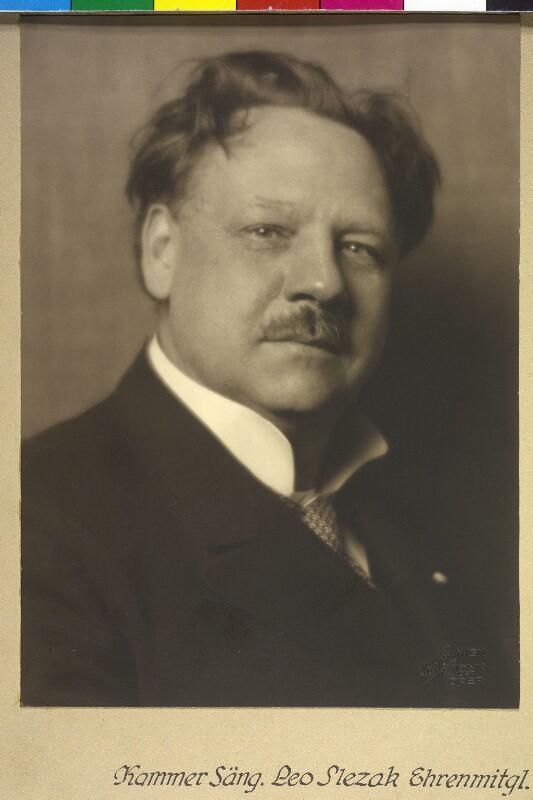 Leo Slezak im März 1927©Bildarchiv Austria, ÖNB