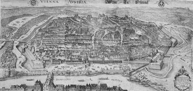 Vogelschauplan von Wien, Jakob Hoefnagel 1609
