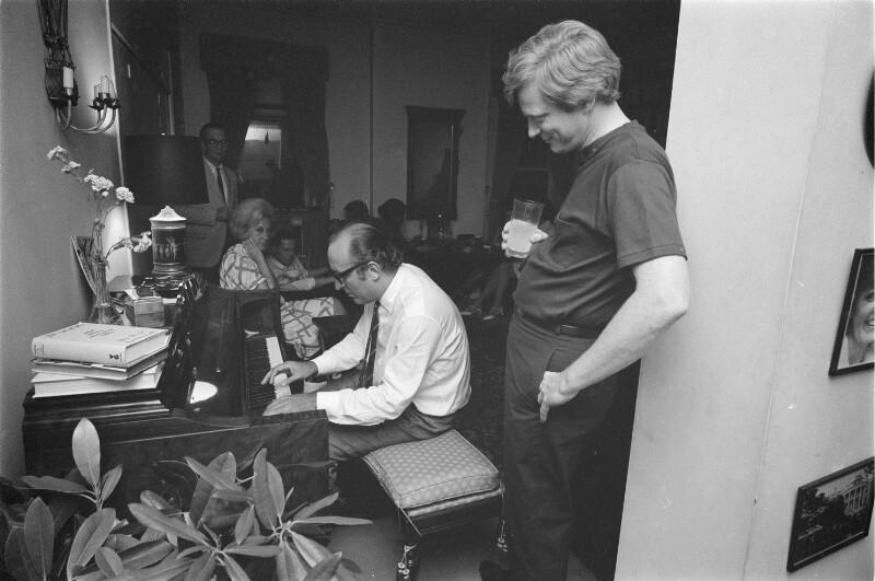 Gerry Mulligan und Friedrich Gulda privat