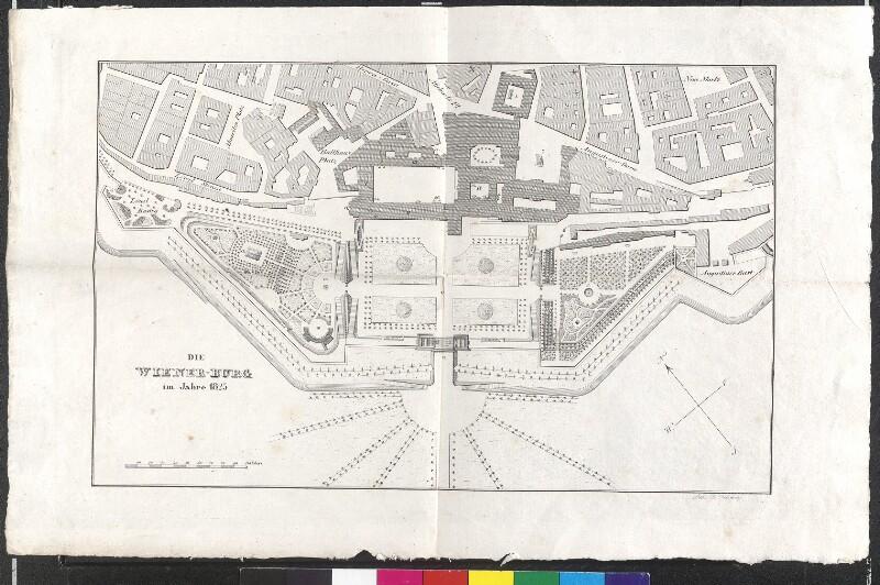 Die Wiener Burg im Jahre 1825