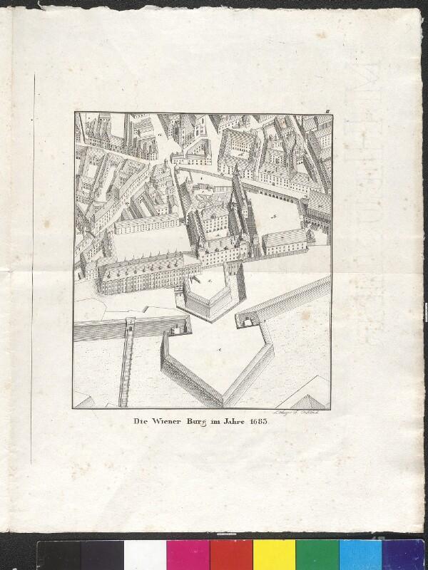 Die Wiener Burg im Jahre 1683