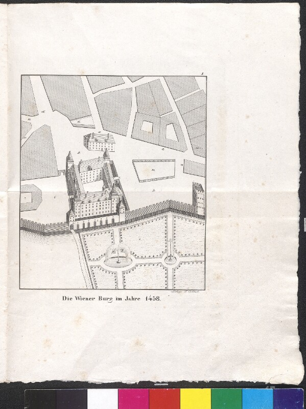 Die Wiener Burg im Jahre 1458
