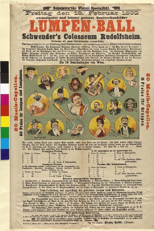 Plakat zum Lumpenball in 'Schwenders Colosseum'
