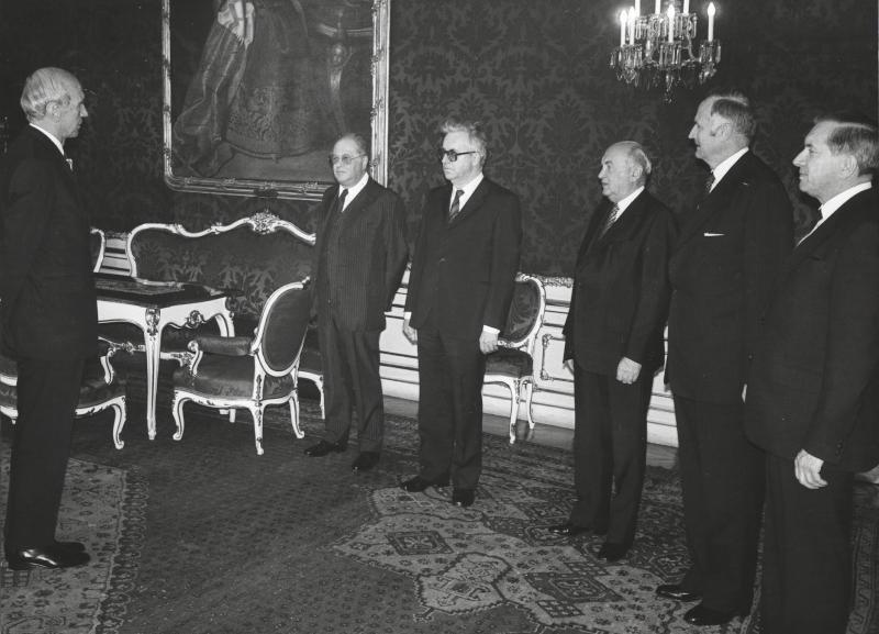 Angelobung des neu gewählten Rechnungshofpräsidenten Tassilo Broesigke