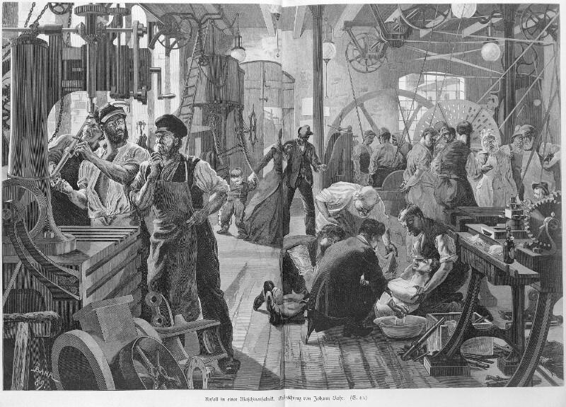 Unfall in Maschinenfabrik   Bahr, Johann - Europeana Collections