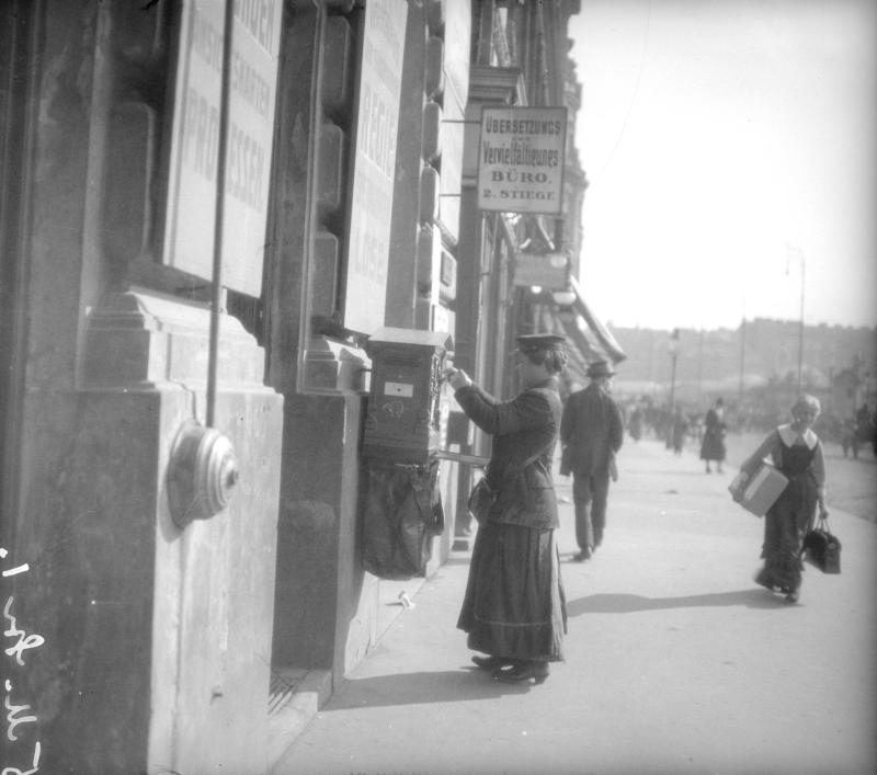 Briefträgerin in Wien