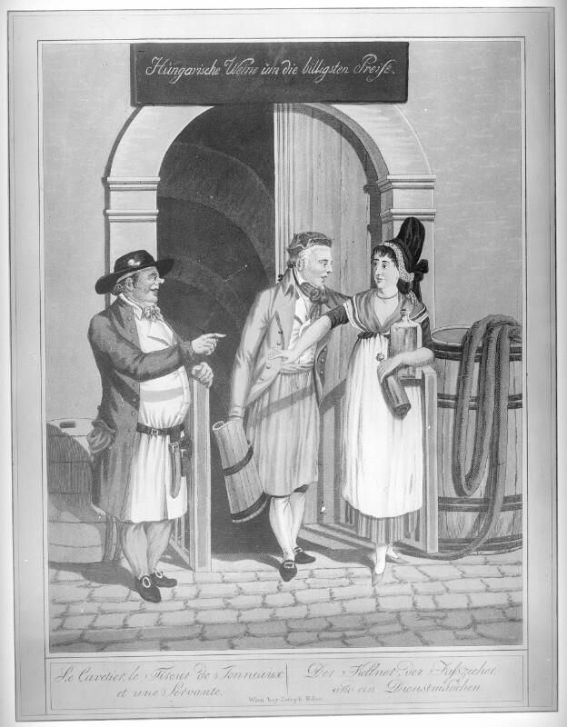 Fasszieher, Kellner und Dienstmädchen