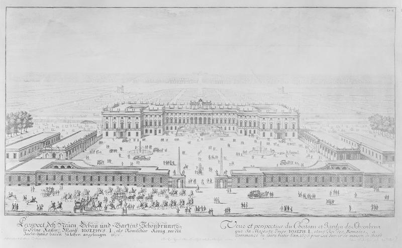 Zweites Projekt für den Umbau des Schlosses Schönbrunn