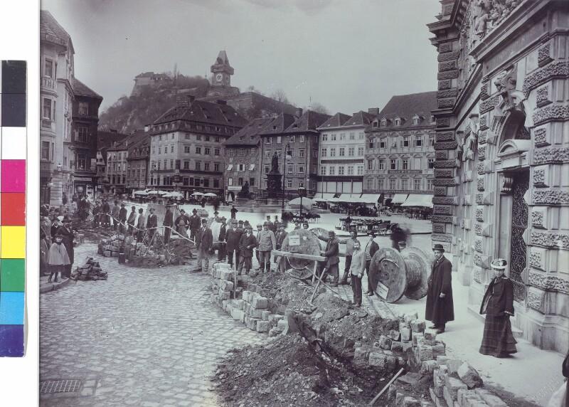 Umbauarbeiten am Grazer Hauptplatz