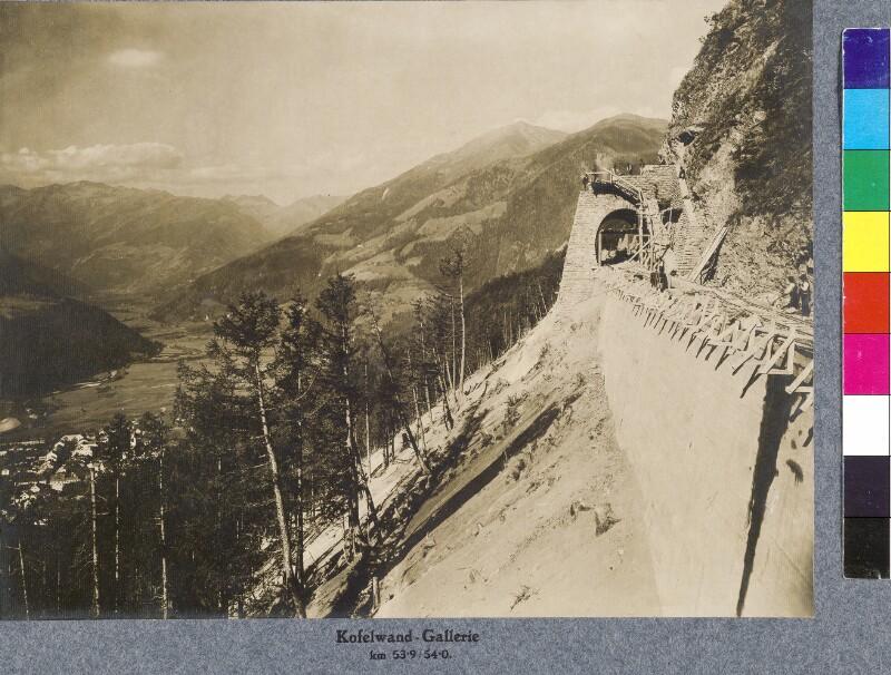 Bahnbau an der Kofelwand