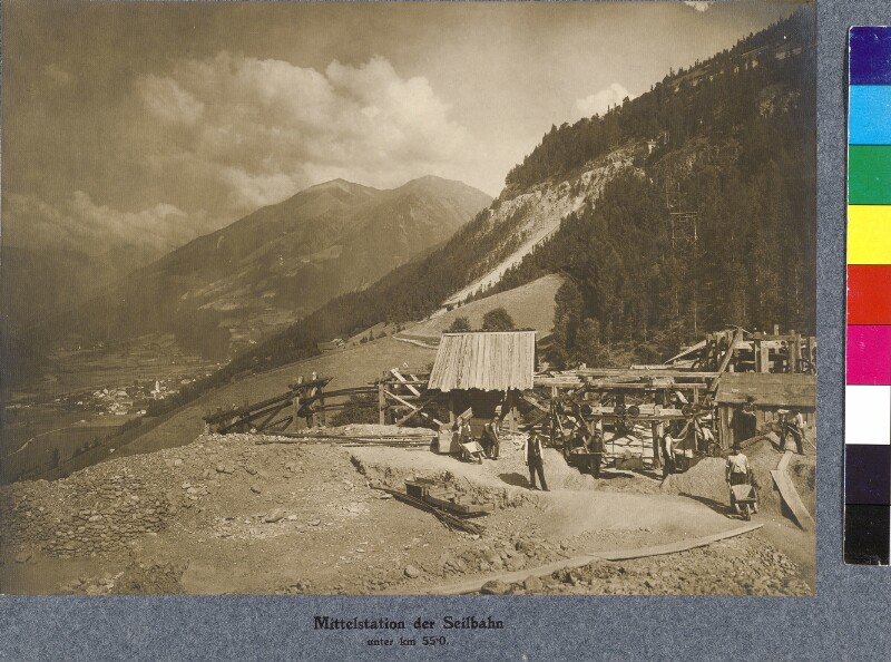 Bau der Seilbahn bei Obervellach