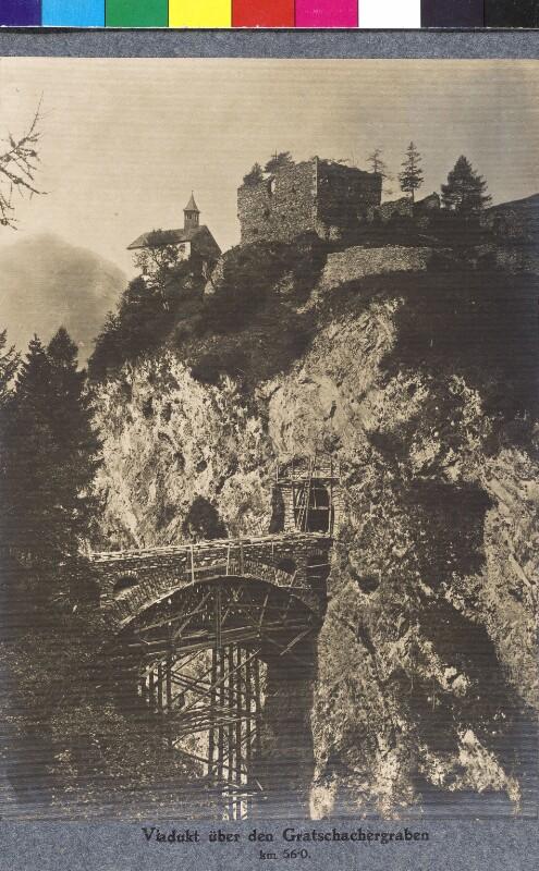 Viadukt über den Gratschachergraben