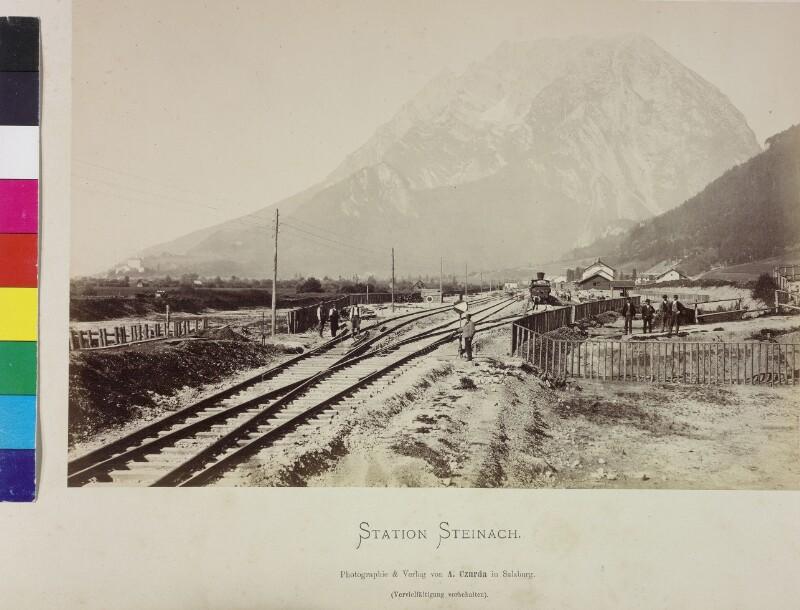 Bahnbau bei Steinach