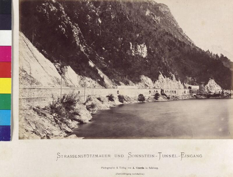 Bahnbau beim Sonnstein
