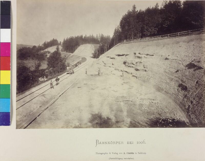 Bahnbau bei Aurachkirchen