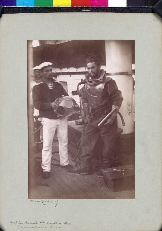 """An Bord der Fregatte """"Laudon"""""""