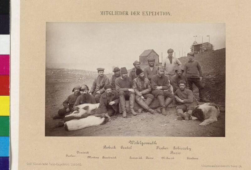 Gruppenbild der Mitglieder der Expedition zur Insel Jan Mayen