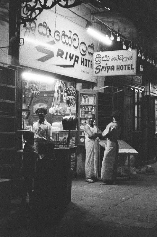 Abendszene in Kandy