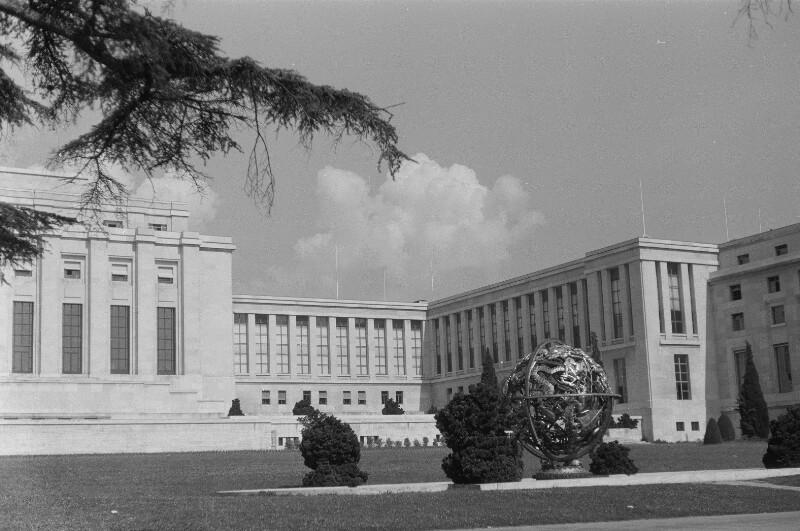 Das Völkerbundpalais in Genf