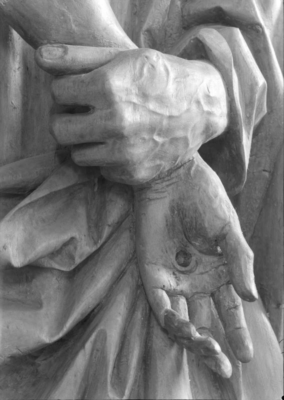 Detail des Seitenaltars der Pfarrkirche von Tosters