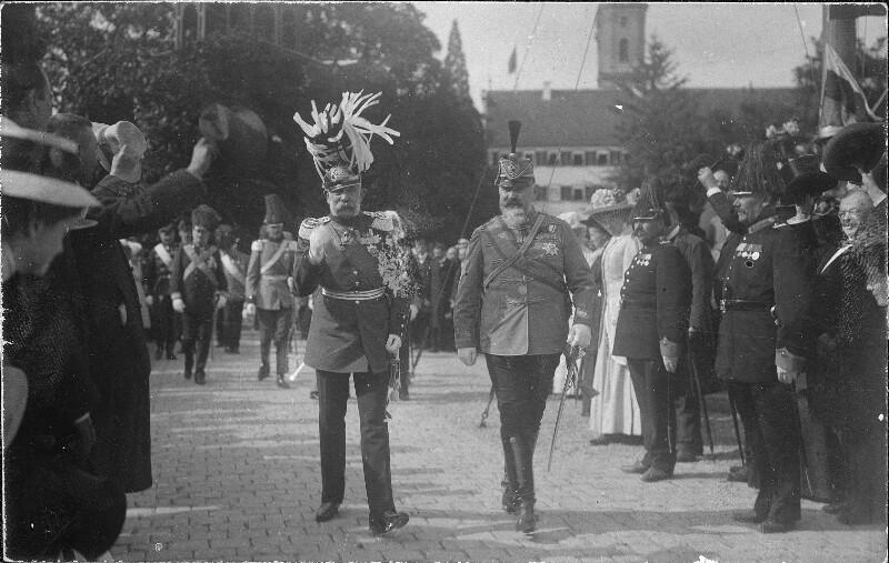 Kaiser Franz Joseph I. und König Wilhelm II. von Württemberg