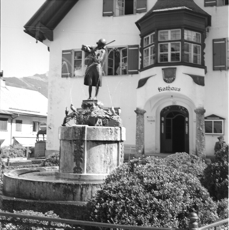 Mozartbrunnen in St.Gilgen