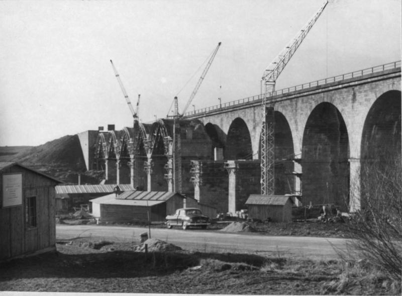 Westautobahn im Bau bei Salzburg