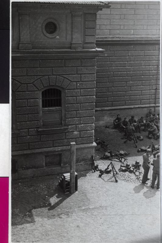 Galgen in einem Gefängnishof