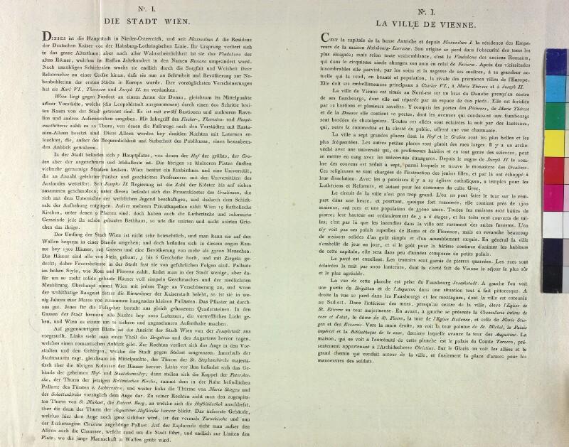 Wien: Text zu Ansicht 1785.