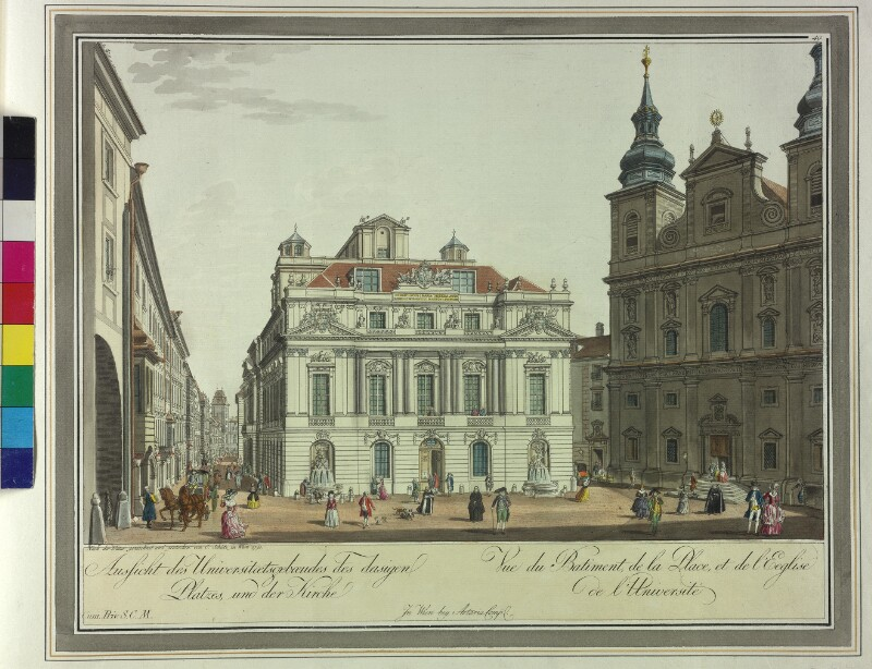 Wien 1., Universitätsplatz, 1790.
