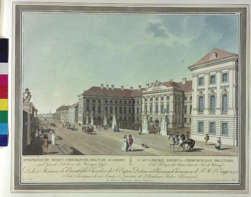 Wien: Josephinum, um 1787.
