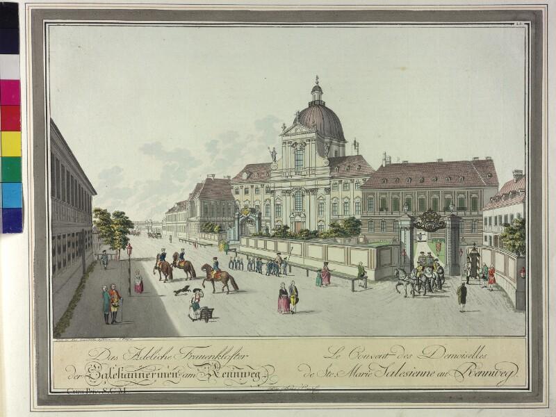 Wien: Kirche und Kloster der Salesianerinnen, um 1785.