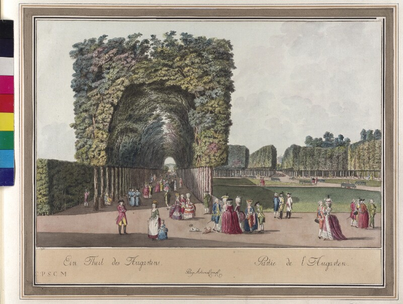 Wien 2., Augarten, um 1783.