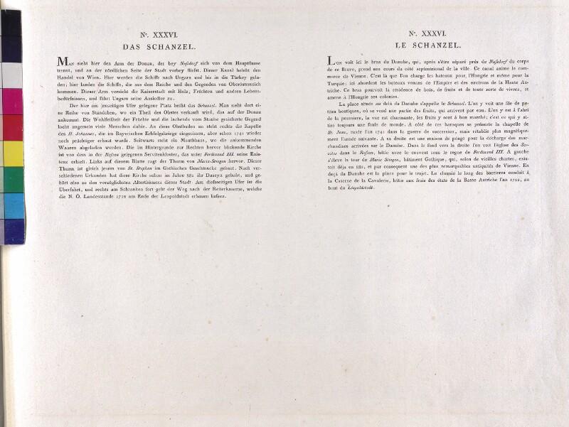 Wien: Am Schanzel, 1779. (Text).