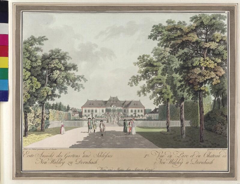 Wien: Schloss Schwarzenberg in Neuwaldegg, um 1790.