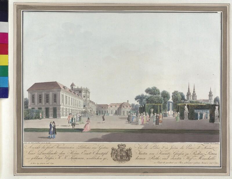 Wien: Palais Kaunitz-Esterhazy, um 1795.