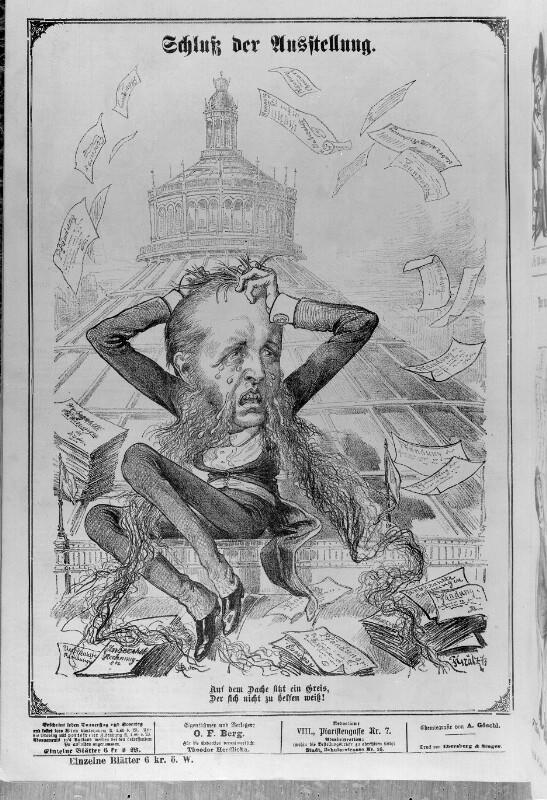 Karikatur zur Wiener Weltausstellung 1873