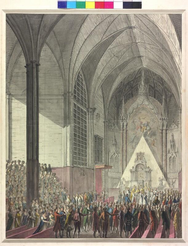 Die Trauung der Erzherzogin Marie Luise per procurationem mit Kaiser Napoleon I. in der Augustinerkirche in Wien